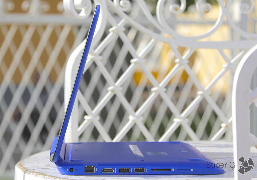 Ноутбук HP Stream x360 сбоку