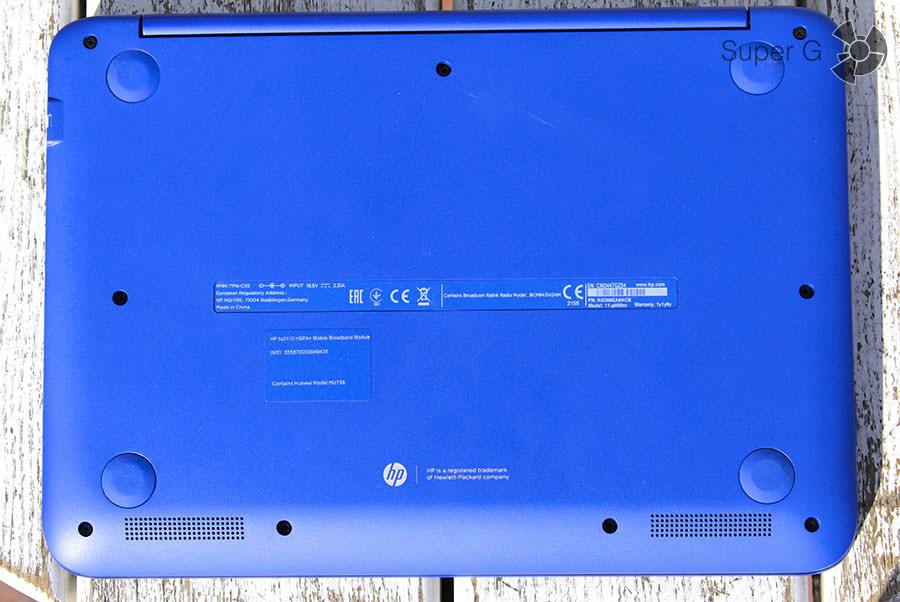 Дно ноутбука HP Stream x360