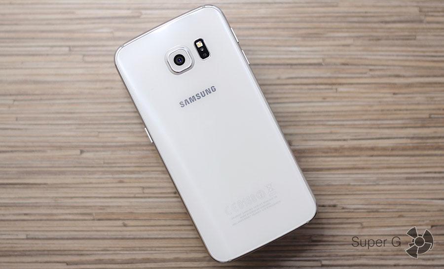 Samsung Galaxy S6 Edge сзади