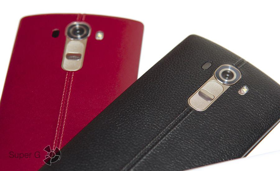 Красный и черный LG G4