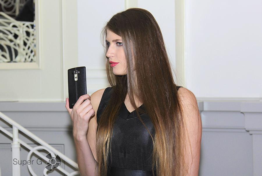 LG G4 в руках