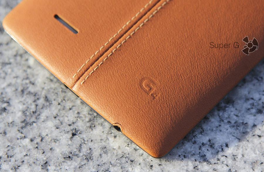Эмблема G4 на кожаной крышке