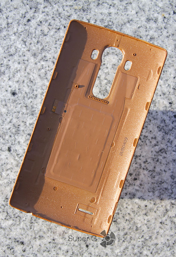 Внутренняя сторона кожаной задней крышки для LG G4