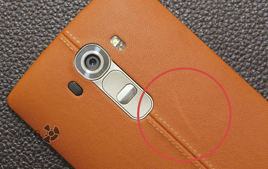 Царапина на задней крышке LG G4