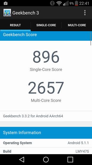 Geekbench 3 LG G Flex 2