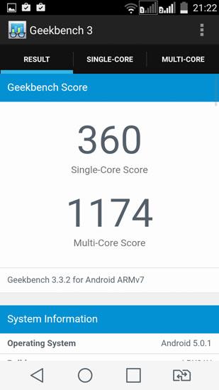 Geekbench 3 LG Spirit