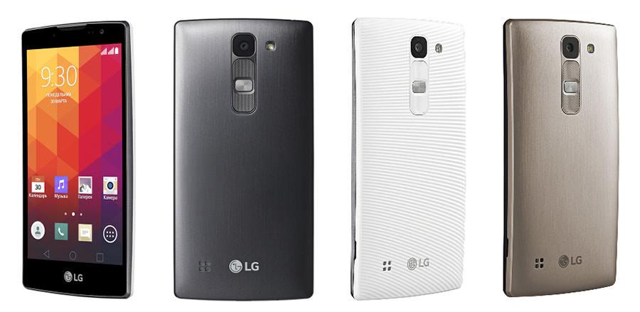 LG Spirit черный, белый, золотой