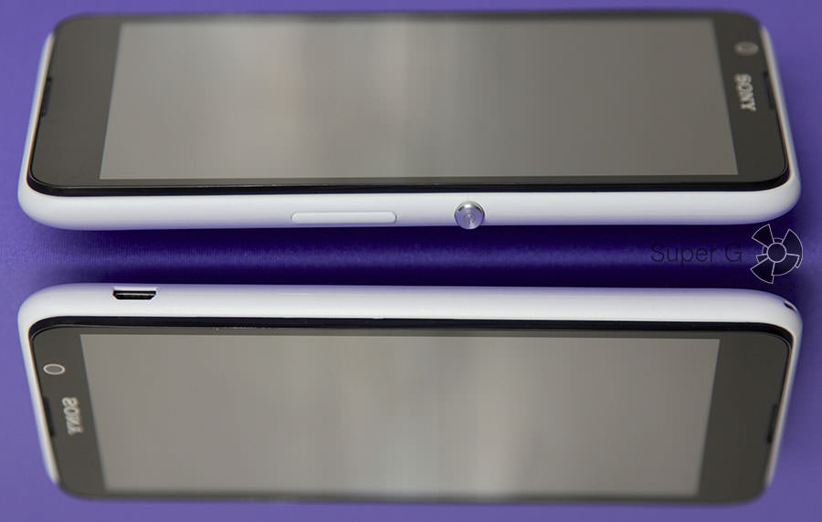 Боковые стороны  смартфона Sony Xperia E4