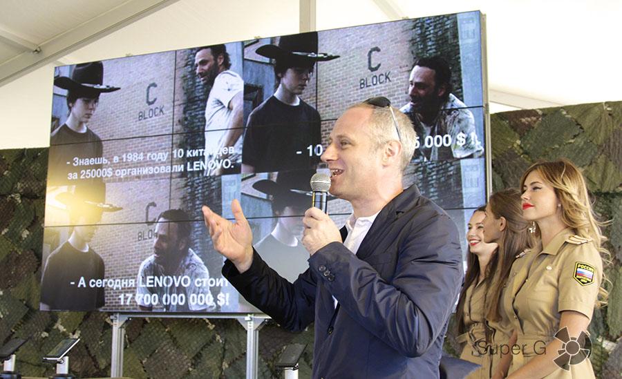 Глеб Мишин на презентации Lenovo 2015