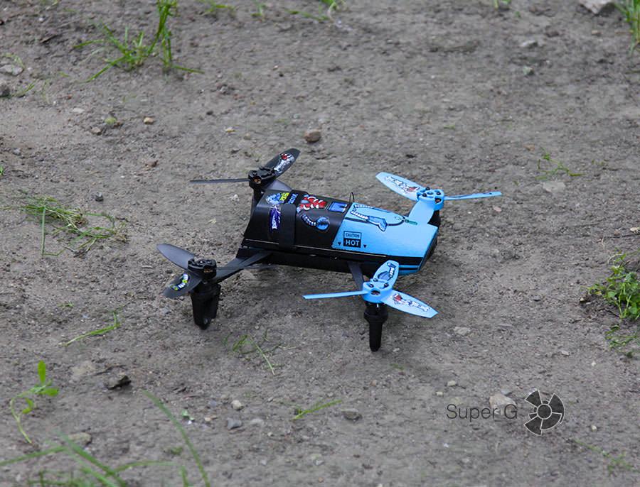 Один из дронов готовиться к старту