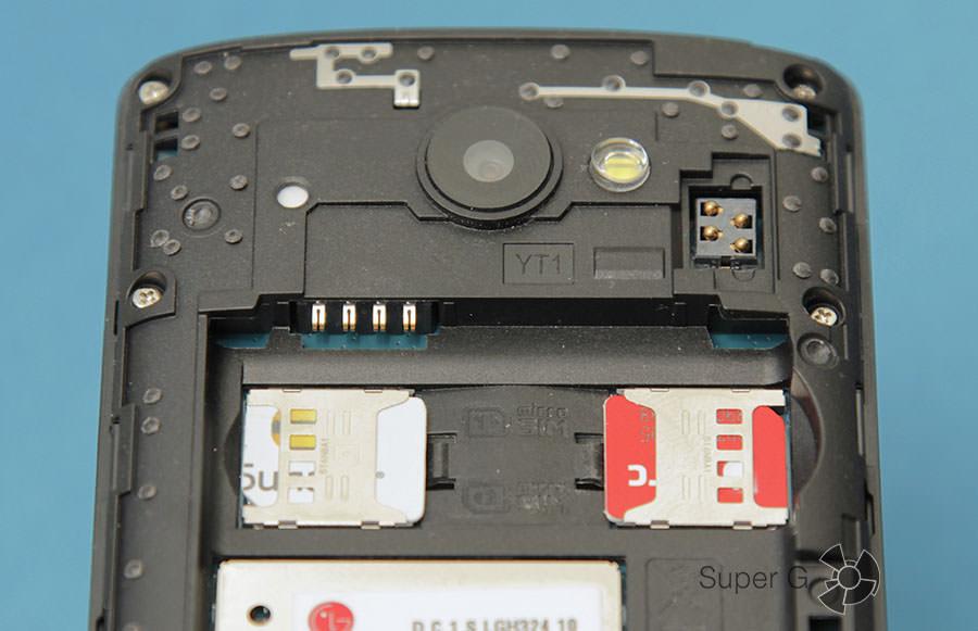 Слоты для установки SIM-карт