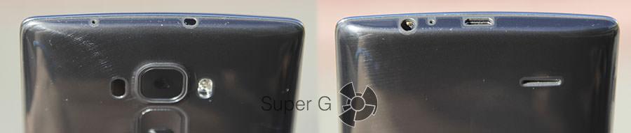 Верхний и нижний торцы LG G Flex 2