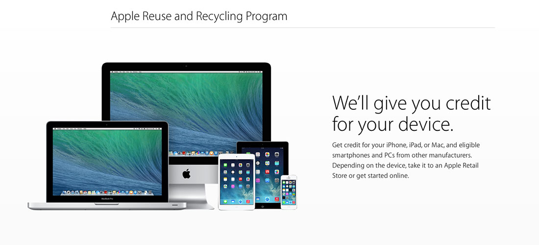 Apple Reuse and Recycling Programm
