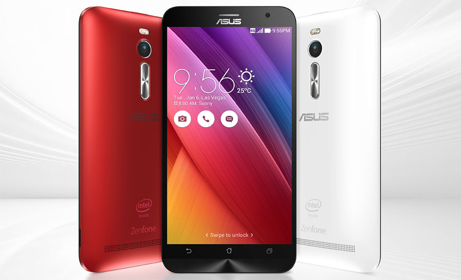 Asus Zenfone 2 ZE550ML Red, Black and White