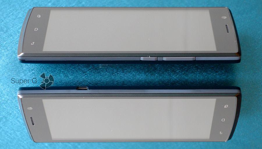 Боковые стороны смартфона Fly Nimbus 3 FS501