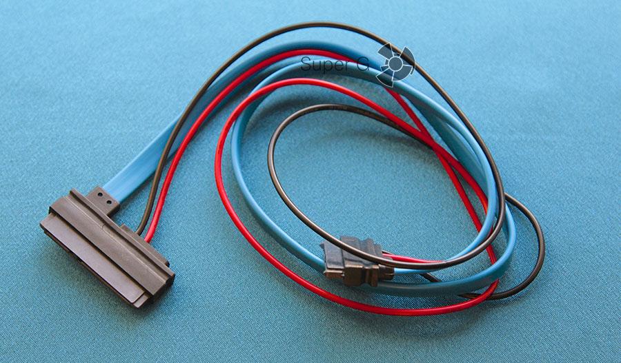 22-pin - 13-pin SATA кабель