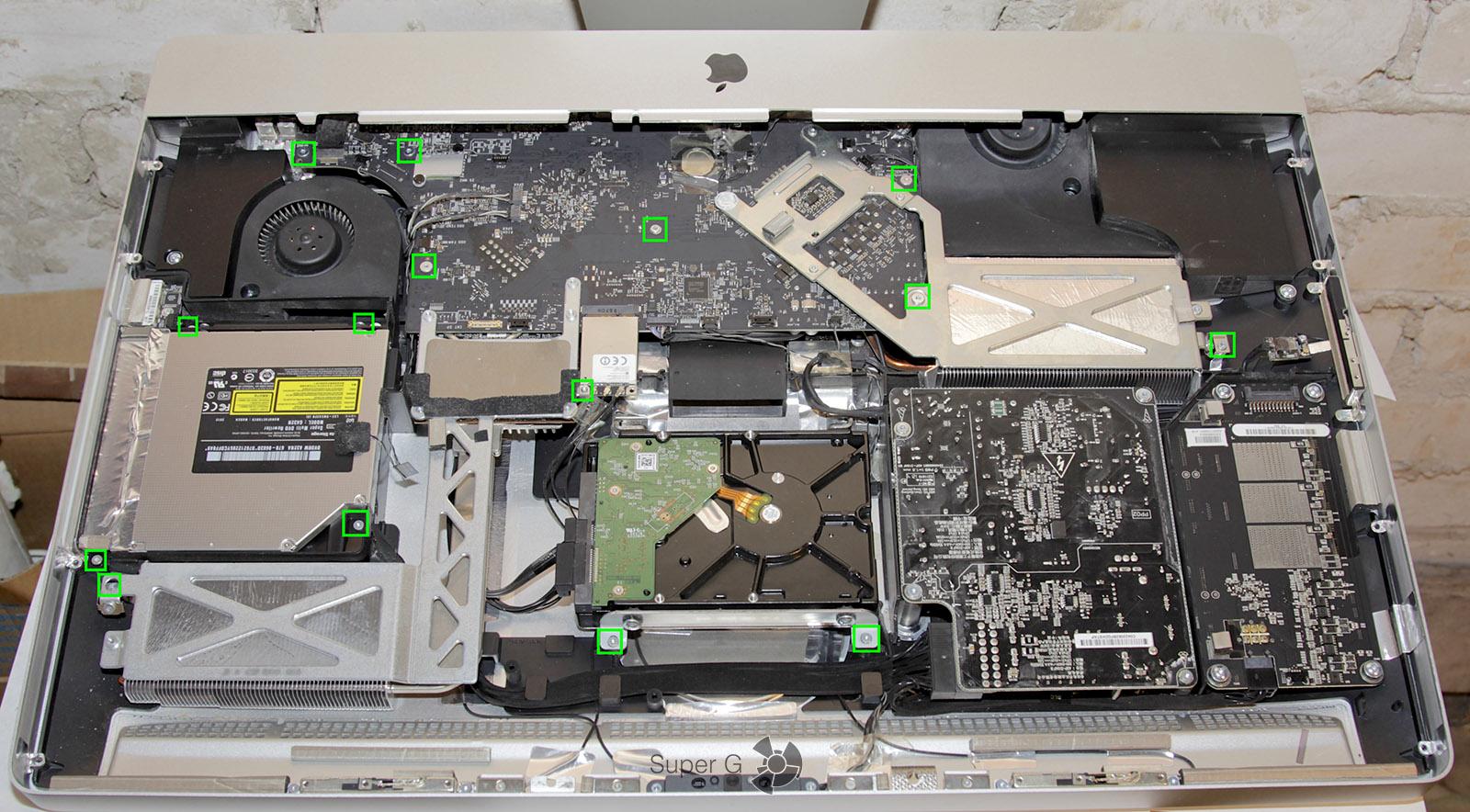 Инструкция как разобрать Apple iMac 27 2011 года