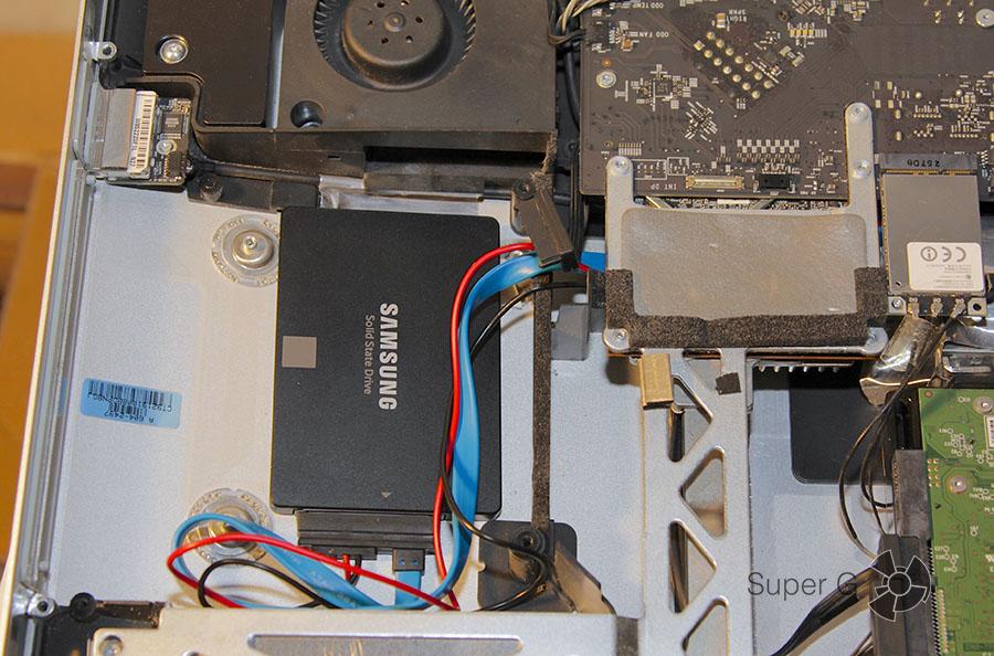 SSD установлен в iMac 27