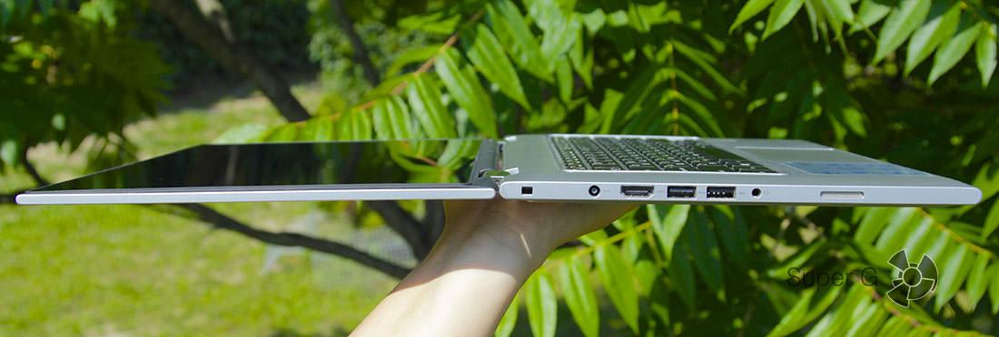 Ноутбук раскладывается на 180 и даже на 360 градусов