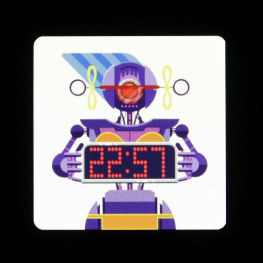Дисплей Asus Zenwatch в активном режиме