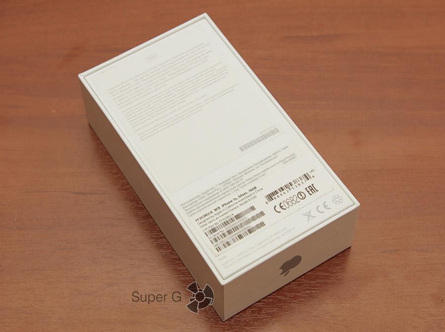 Упаковка iPhone 5S как новый