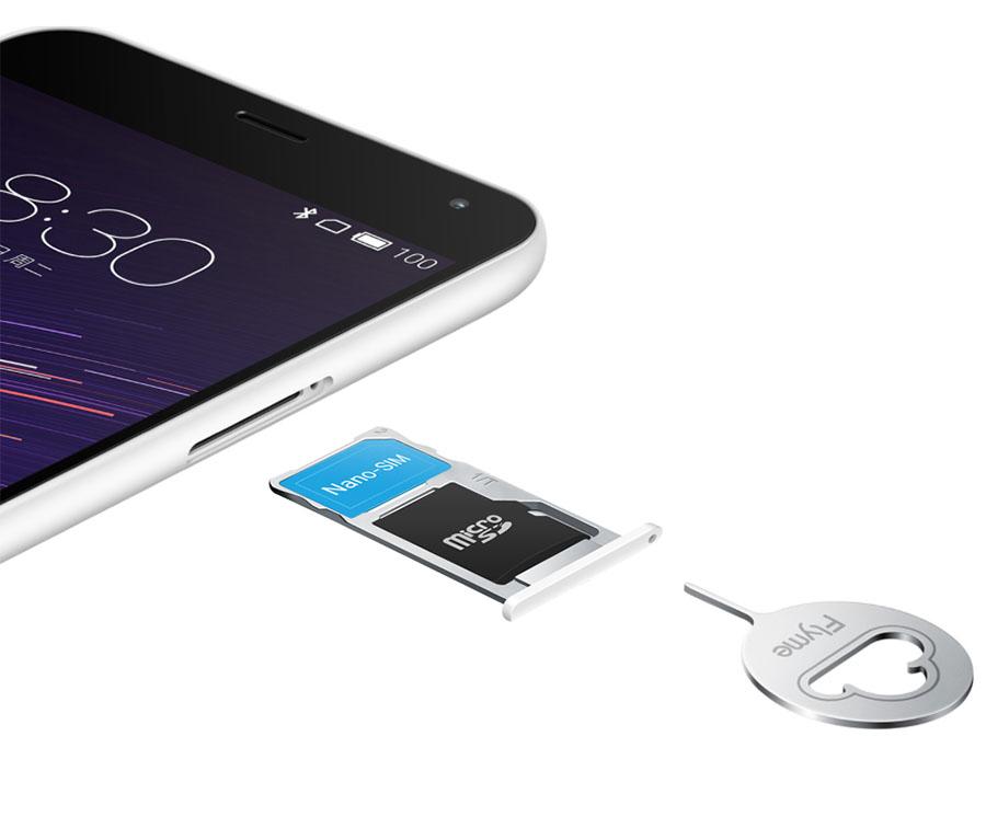 Meizu M2 Note SIM-карта и карта памяти Micro SD