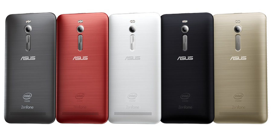 Red, Black, White, Gold Asus Zenfone 2