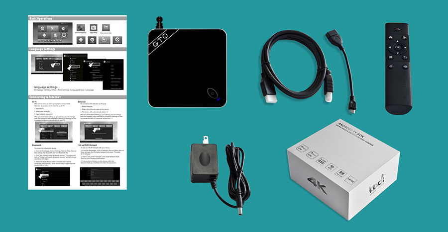 Комплектация Beelink GTQ Android TV Box