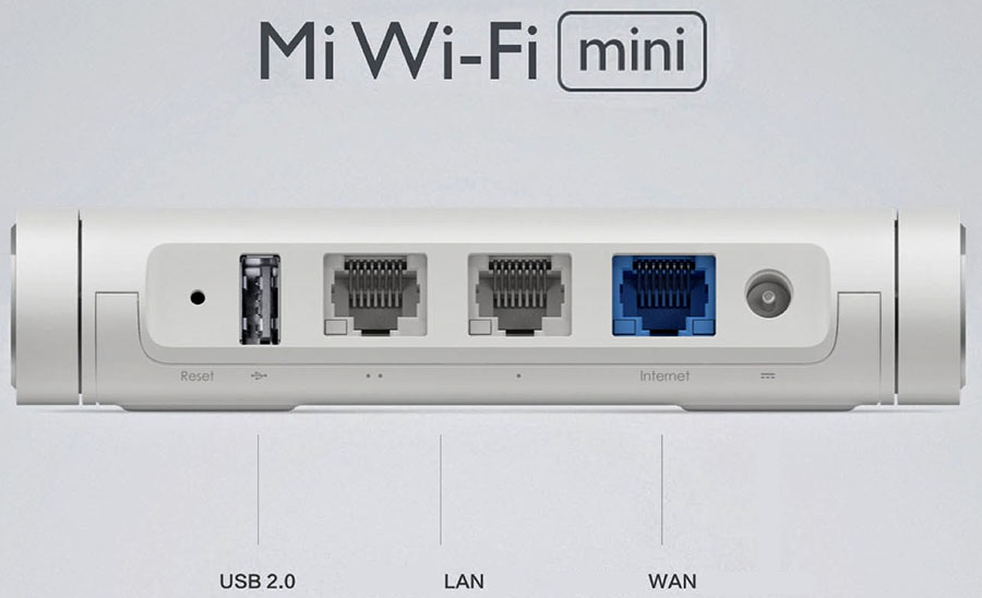 Разъемы и порты Xiaomi Portable USB Mini WiFi