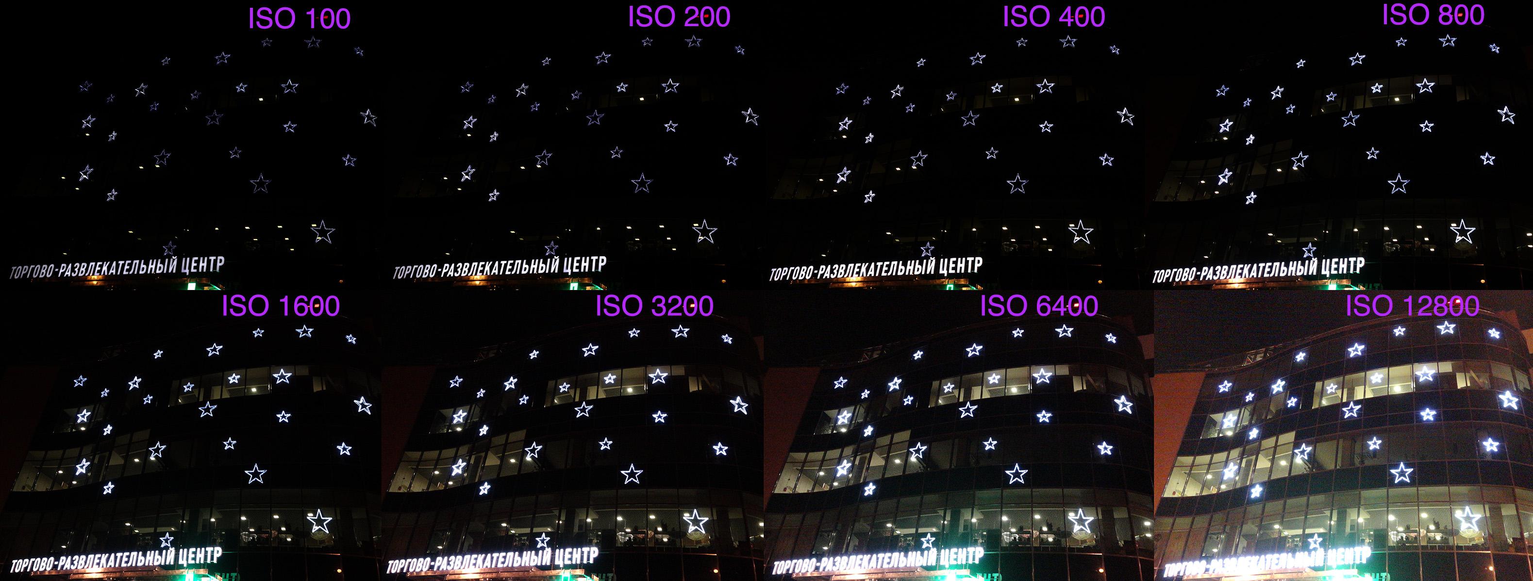 Тест светочувствительности матрицы ISO Sony RX100M3