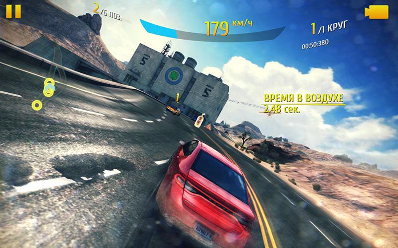 Asphalt 8 на планшете Huawei MediaPad X2