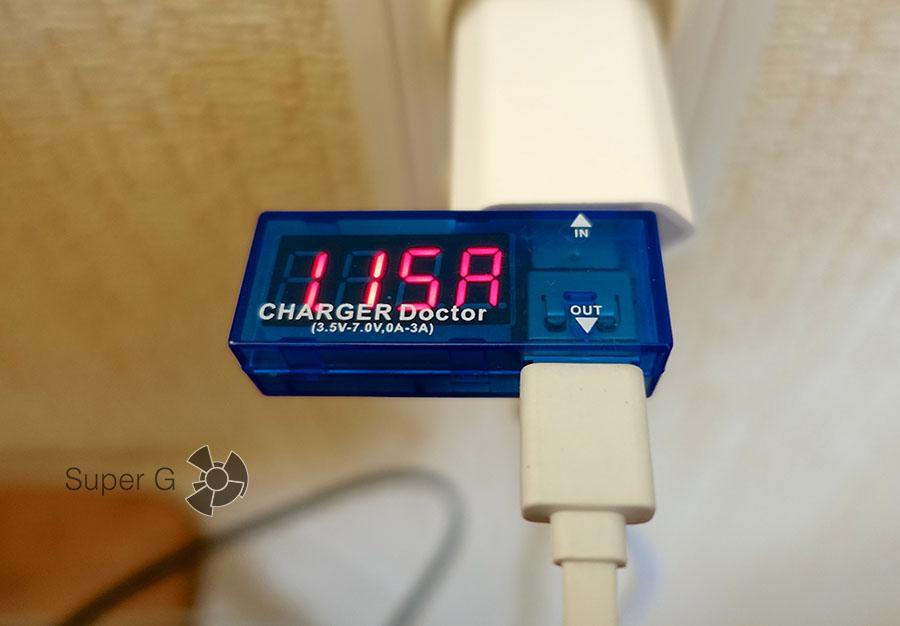 Сила тока в зарядном устройстве Apple