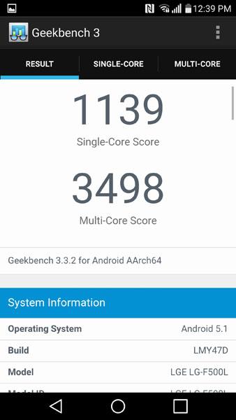 LG G4 в тесте Geekbench 3
