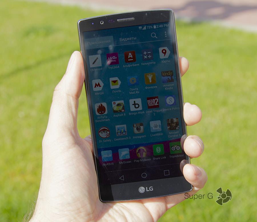 Отпечатки на дисплее LG G4 практически отсутствуют