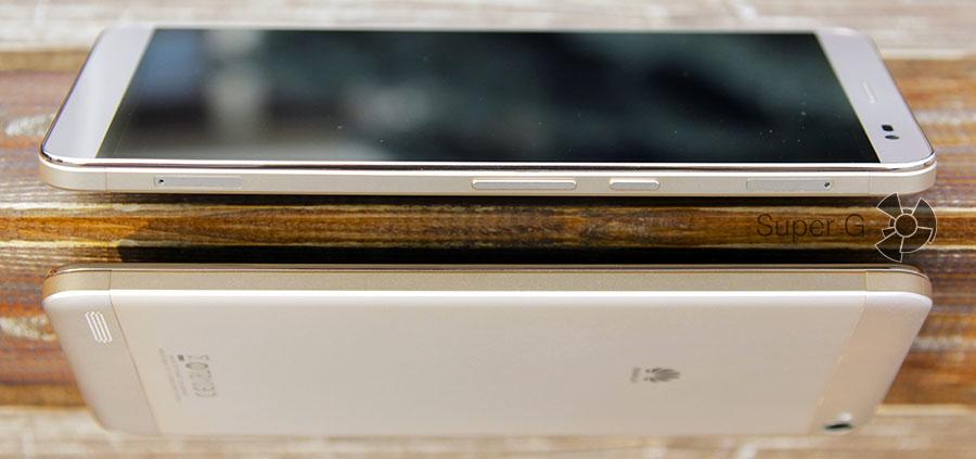 Боковые стороны планшета Huawei