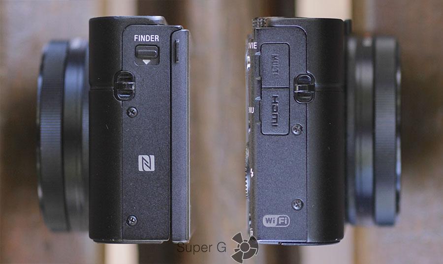 Боковые стороны фотоаппарата