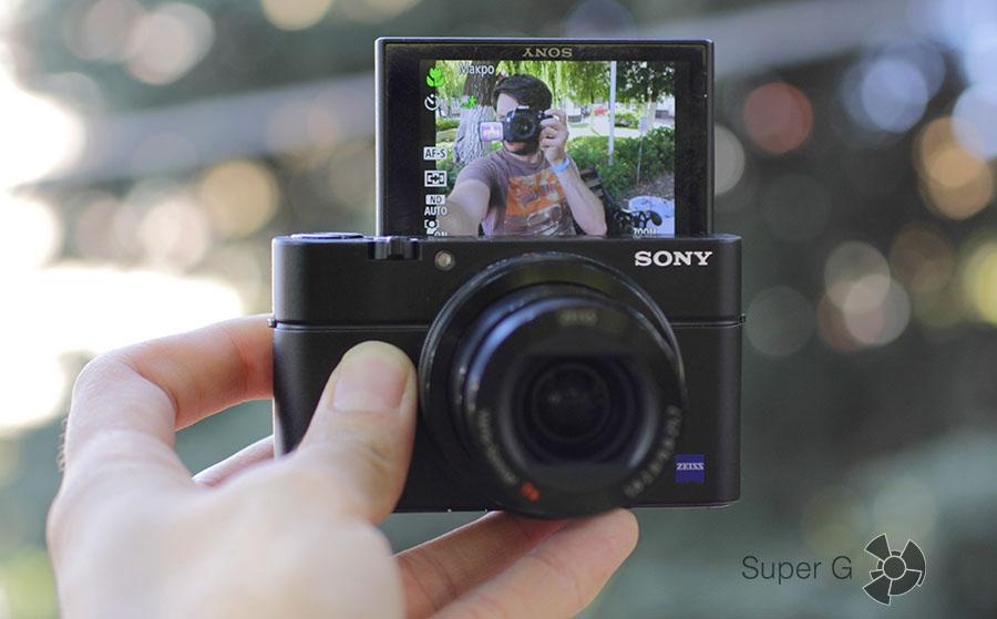 Съемка автопортетов селфи на Sony RX100M3