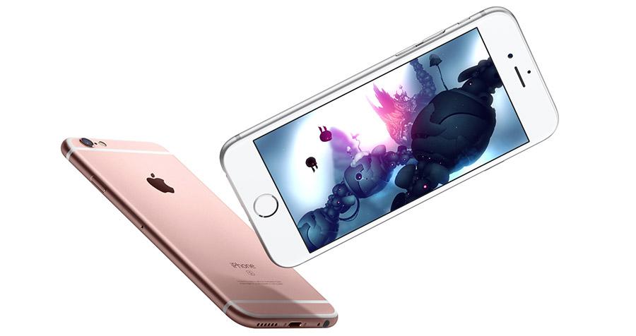 Белый iPhone 6S и розовый цвет
