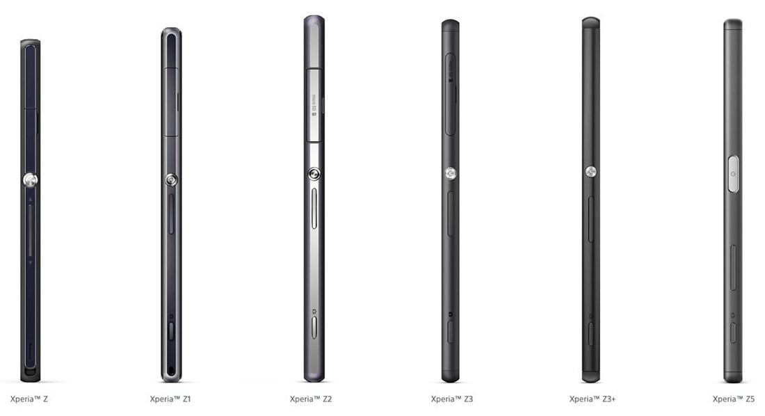 Развитие дизайна в линейке Sony Xperia