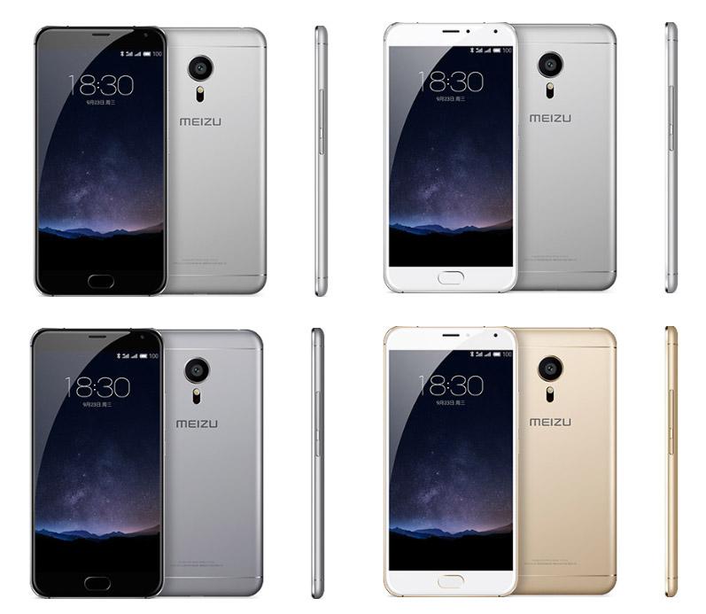 Расцветки корпуса, включая золотую модель, Meizu MX5 Pro