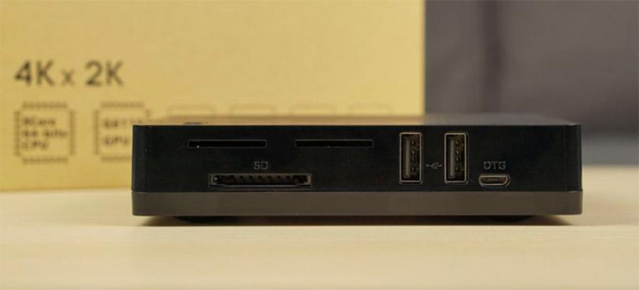 Слоты под карты памяти и еще порты Beelink i68 TV Box 4K копия