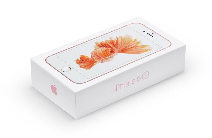 Упаковка от iPhone 6S розовый