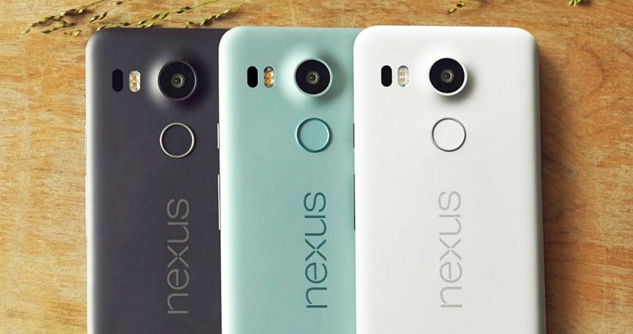 Цвета смартфона Google Nexus 5X
