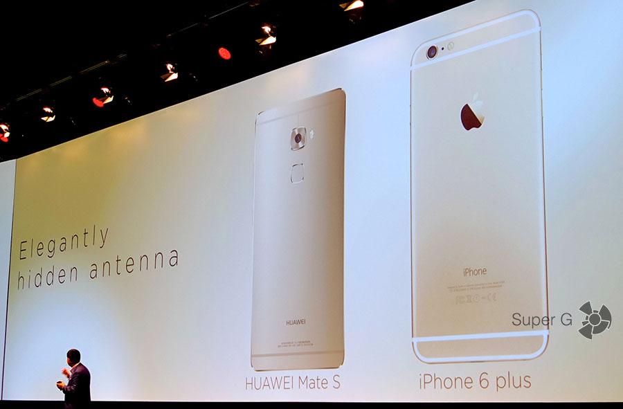 Сравнение Huawei Mate S с iPhone 6 Plus