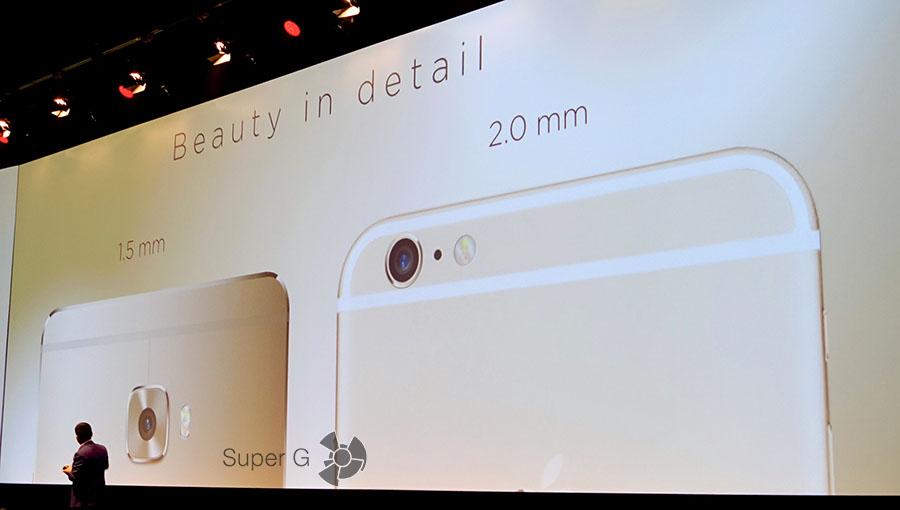 Полоски антенн в Huawei Mate S и iPhone 6 Plus