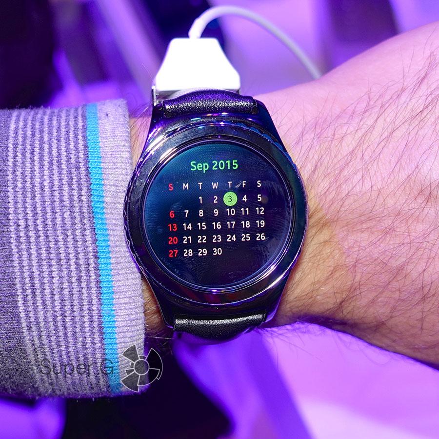 Календарь на Samsung Gear S2