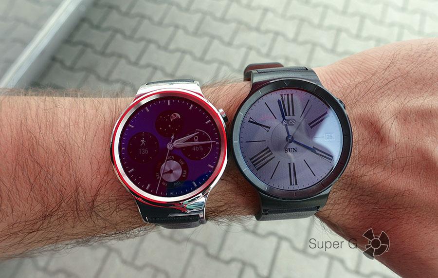 Huawei Watch серебристая сталь и черная сталь