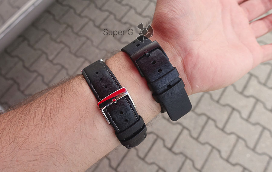 Huawei Watch серебристая сталь и черная сталь и их ремешки