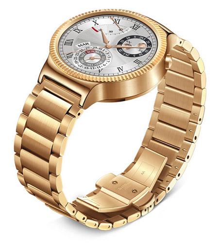 Huawei Watch Розовое золото и блоковый металлический браслет с напылением под розовое золото