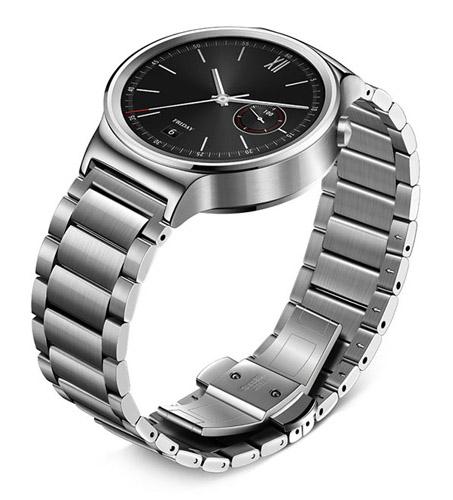 Huawei Watch из стали и со стальным серебристым браслетом